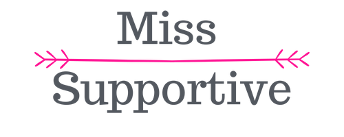 Miss Supportive - logo transparante achtergrond PNG